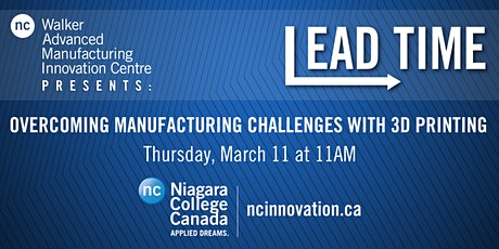 Lead Time: Overcoming Manufacturing Challenges with 3D Printing tickets