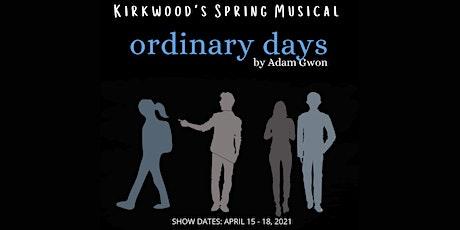 Ordinary Days: A Musical by Adam Gwon tickets