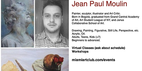 Painting & Drawing Classes  with Prof. Jean Paul Moulin (Virtual) tickets