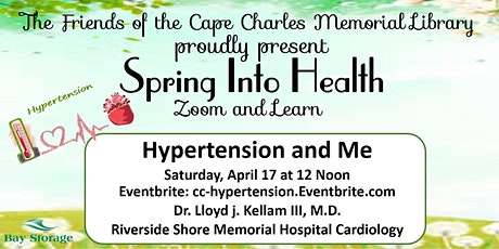 FCCML 2021 Zoom & Learn Spring Into Health Series: Hypertension and Me tickets