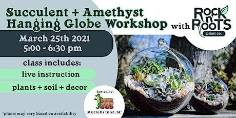 Succulent + Amethyst Hanging Globe Workshop at Deck 383 tickets
