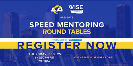 2021 Speed Mentoring Roundtables tickets