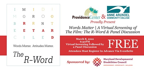Words Matter: A Virtual Screening of the Film The R-Word & Panel Discussion tickets