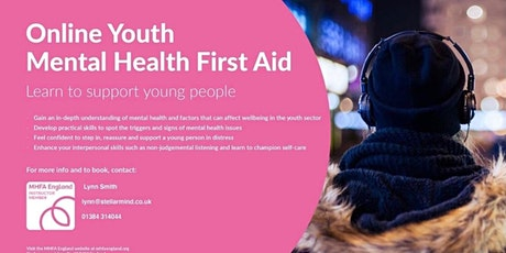 Online Youth Mental Health First Aid Course tickets