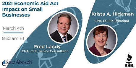 2021 Economic Aid Act Impact on Small Businesses tickets