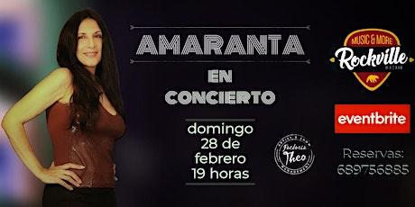 AMARANTA en concierto en la sala Rockville (Madrid) entradas