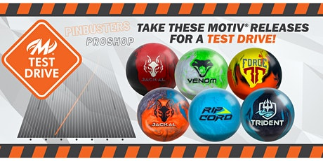 Motiv Test Drive Pinbusters Proshop tickets
