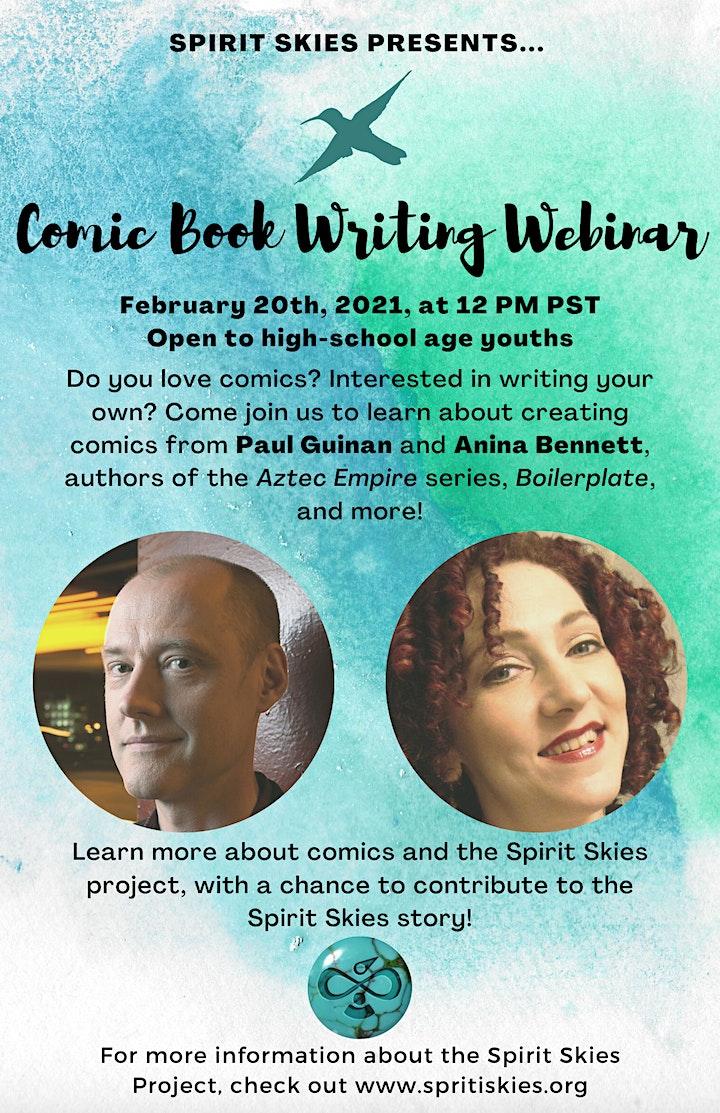 Comic Writing Webinar image