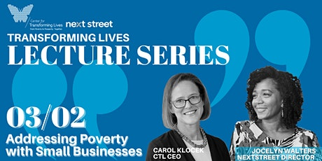 Addressing Poverty with Small Businesses tickets