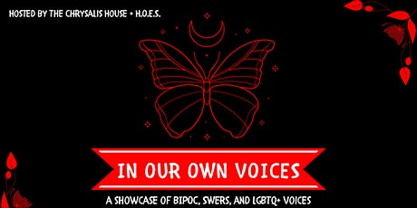 In Our Own Voices:  A showcase of BIPOC, SWers, and LGBTQ+ tickets