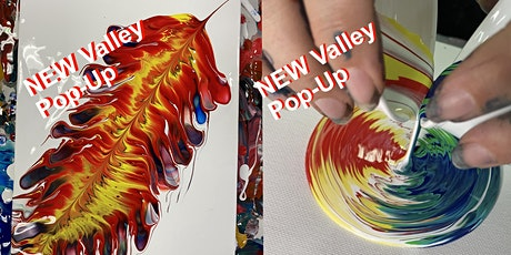 Valley Feather Paint Pour Two Canvases tickets