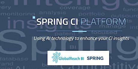 SPRING webinar : Using AI to increase CI efficiency tickets