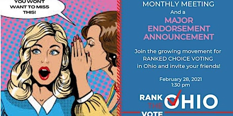 Endorsements Reveal and Monthly Meeting Tickets
