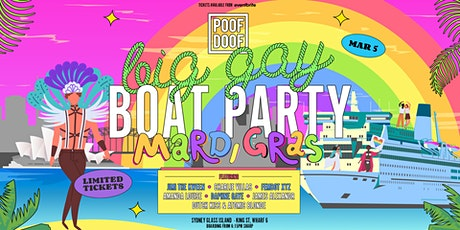 POOF DOOF Big Gay Boat Party - Fri 5th March tickets