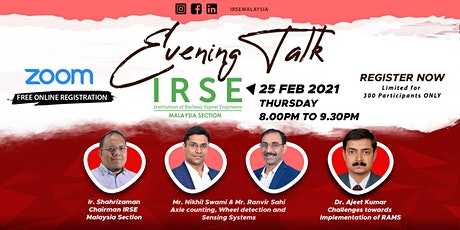 IRSE Evening Talk - 25 Feb 2021 tickets