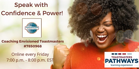 Coaching Envisioned Toastmasters Weekly Demo Meetings tickets