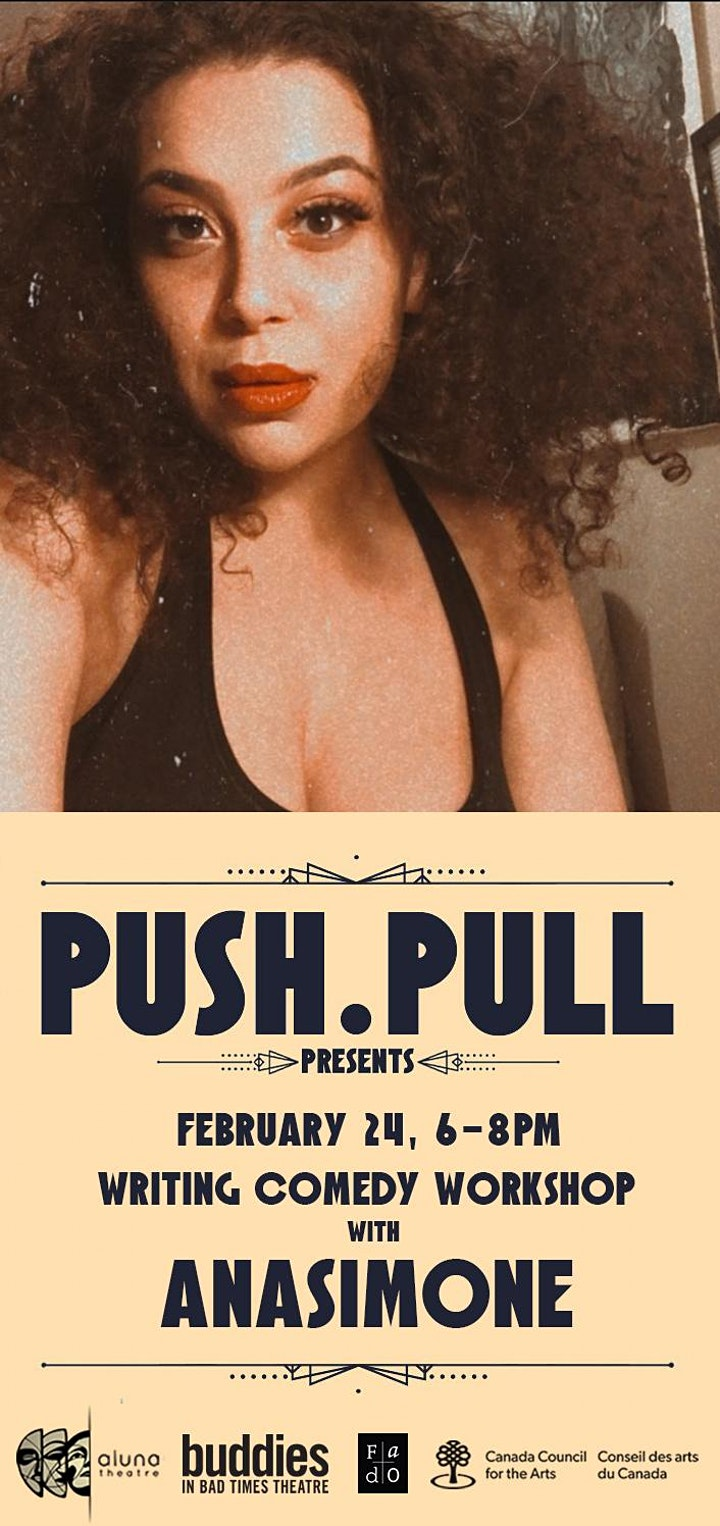 PUSH.PULL presents Writing Comedy Workshop with Anasimone image