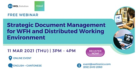 Webinar: Strategic Document Management for Distributed Working Environment tickets