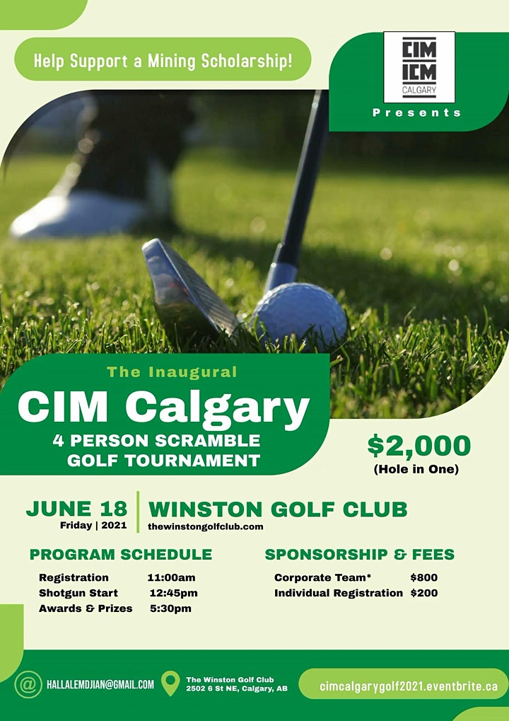 CIM Calgary - Inaugural Scramble Golf Tournament 2021 image
