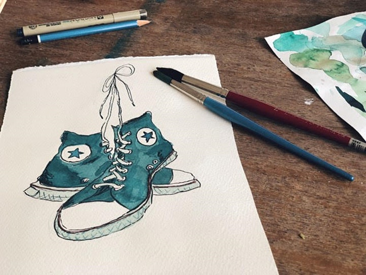 Introduction to Watercolours - with Natalie Popovski image