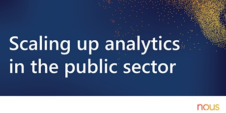 Scaling up analytics in the public sector webinar billets