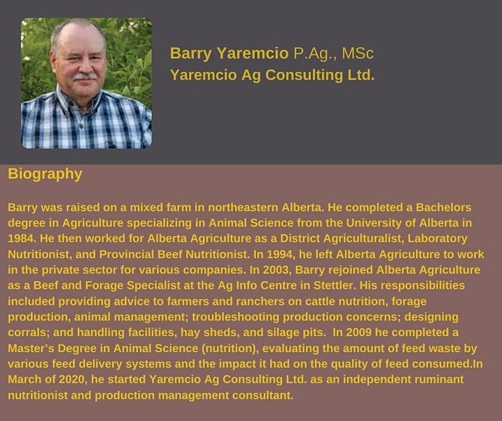 Nutritional Changes In Later Gestation- with Presenter: Barry Yaremcio image