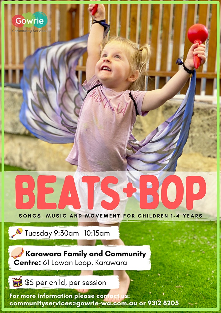Beats + Bop: songs, music and movement for children 1-4 years image