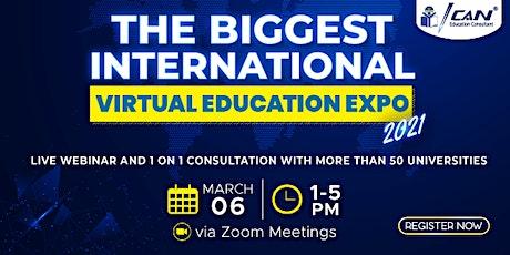 The Biggest International Virtual Education Expo - Maret 2021 entradas
