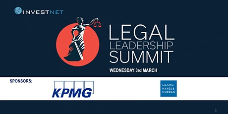Legal Leadership  Virtual Summit 2021 tickets