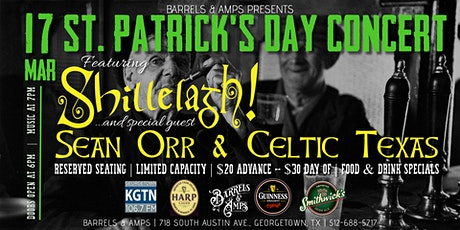 St. Patrick's Day Concert (feat. Shillelagh! with Sean Orr & Celtic Texas) tickets