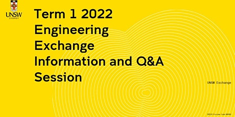 Engineering  Exchange Information Session tickets