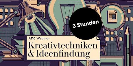 """ADC Teaser Seminar """"Kreativtechniken & Ideenfindung"""" Tickets"""