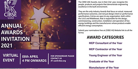 CIBSE UAE Annual Awards Celebration (Online) tickets