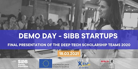 Demo Day - SIBB Deep Tech Startup Scholarship (Batch 2020) ingressos