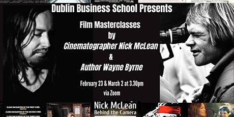 Lecture Series 2 - Creative Arts and Media (Wayne Byrne Cinematographer) tickets