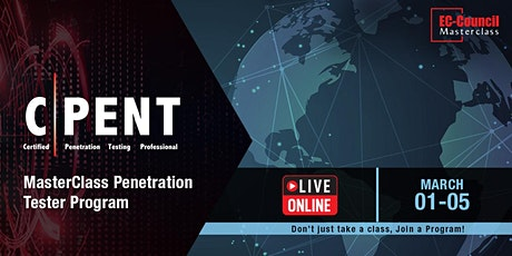 MasterClass Penetration Tester Program - CPENT - Live Online March 22, 2021 bilhetes