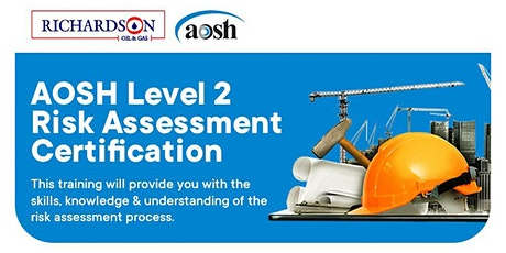 AOSH LEVEL 2 RISK ASSESSMENT CERTIFICATION (PAID EVENT) tickets