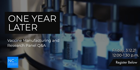 One Year Later - Vaccine Manufacturing and Research Panel Q&A entradas