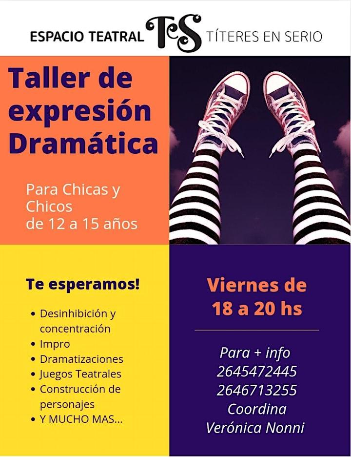 Imagen de TALLER DE EXPRESIÓN DRAMÁTICA - para 12 a 15 años-
