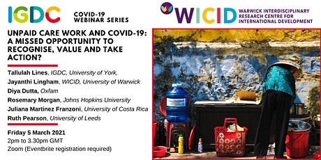 Covid-19 Webinar Series: Unpaid Care Work and Covid-19 tickets