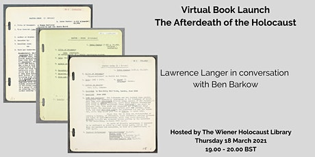 Virtual Book Launch: The Afterdeath of the Holocaust tickets