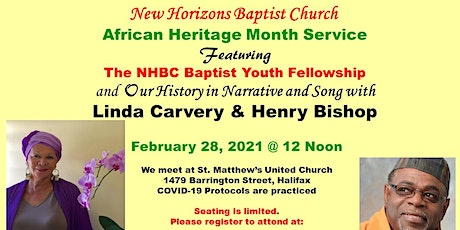 February 28 -12PM African Heritage Month Service tickets