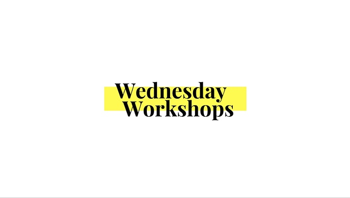 Wednesday Workshops –digital creativity with Sarah & Leila at 1pm image