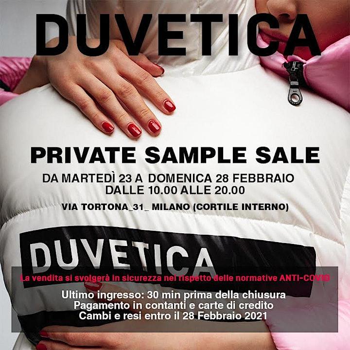 Immagine DUVETICA - PRIVATE SAMPLE SALE  dal 23 al 28 Febbraio 2021