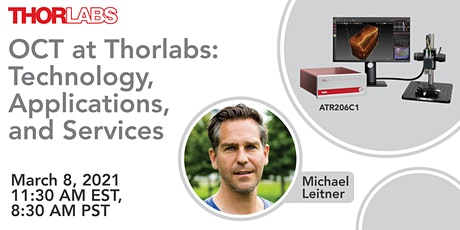 OCT at Thorlabs: Technology, Applications, and Services tickets