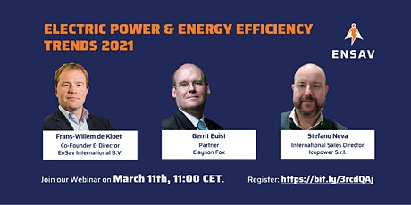 "EnSav Webinar ""Electric Power & Energy Efficiency Trends 2021"" tickets"