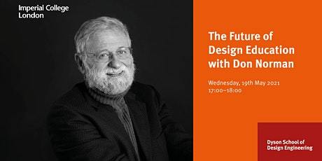 The Future of Design Education: A conversation with Don Norman bilhetes