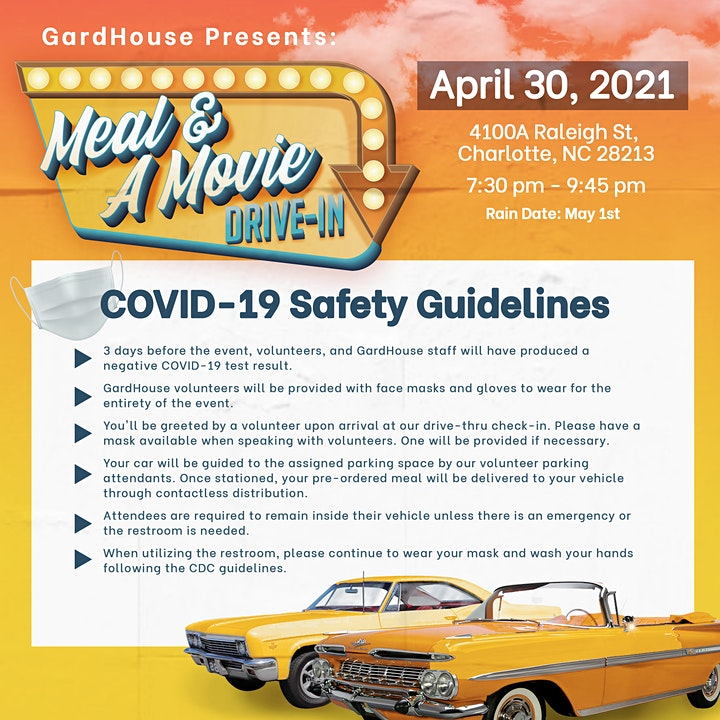 GardHouse Annual Family Dinner: Drive-in  Movie Fundraiser image