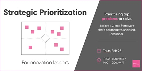 Strategic Prioritization for Innovation Leaders tickets