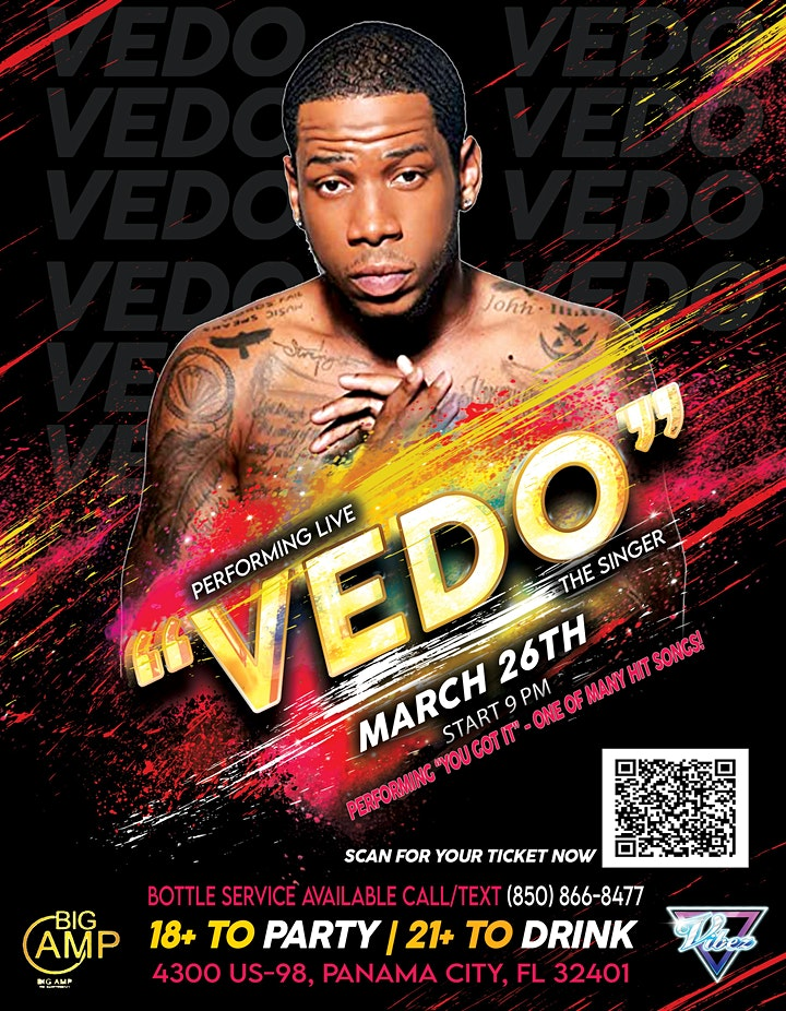Big Amp & Vibez Present VEDO the singer Live in Concert! image